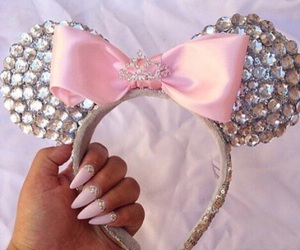 pink, nails, and disney image