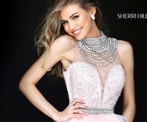 homecoming dress 2016, beaded tulle dress, and sherri hill 50538 image