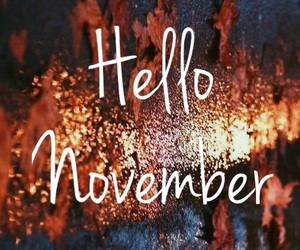 november, hello, and fall image