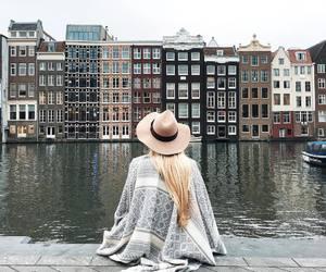 amsterdam, girl, and travel image