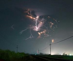 sky, lightning, and night image