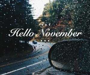 november, hello, and rain image