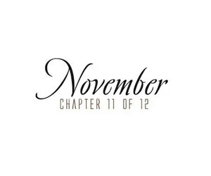 november, quotes, and chapter image