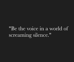 b&w, quotes, and silence image