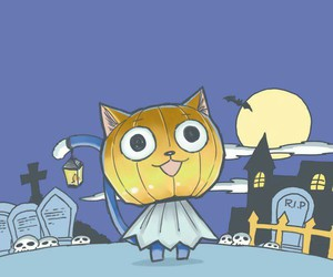 fairy tail, happy, and Halloween image