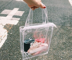 bag, clear, and fashion image