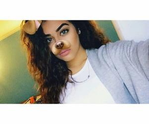 curly, snapchat, and dog image