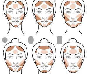 makeup, contouring, and beauty image