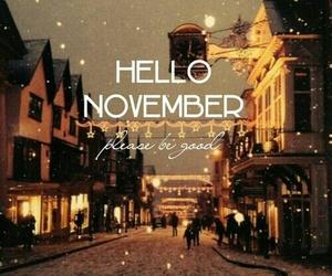 november, hello november, and lights image