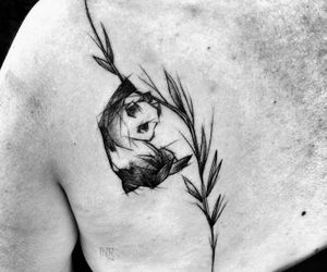panda, tattoo, and art image