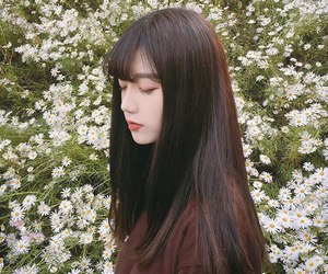 ulzzang, flowers, and tumblr image