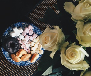 breakfast, flowers, and brunch image