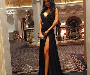 girl, black, and dress image