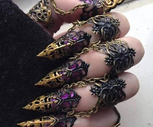 nails, gothic, and magic image