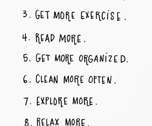 list, goals, and life image