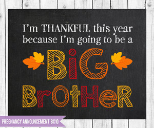 etsy, thanksgiving, and baby announcement image