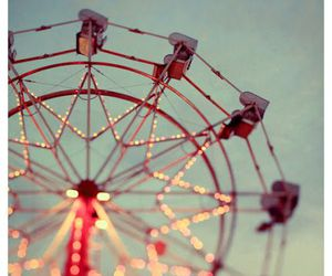 light, ferris wheel, and photography image