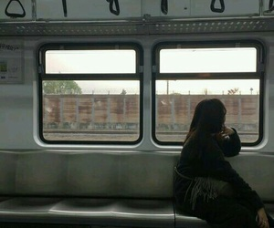 aesthetic, train, and grunge image