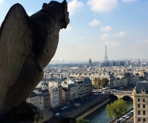 cathedral, eiffel tower, and notre dame cathedral image