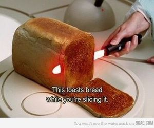 bread, toast, and funny image