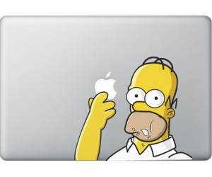 case, homer, and macbook image