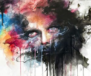 art, eyes, and colors image