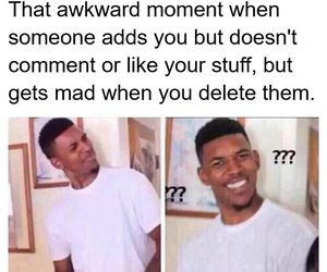 add, delete, and funny image