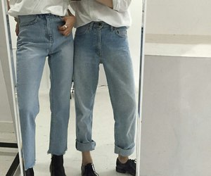 jeans, aesthetic, and pale image