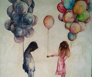 balloons, friendship, and happiness image