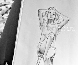 art, drawing, and drawings image