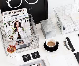 coffee, desk, and interior image
