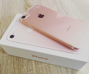 apple, rosegold, and iphone7 image