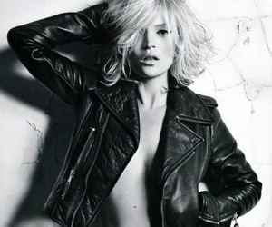 black & white and kate moss image