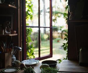 window, kitchen, and nature image