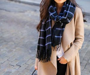 camel, coat, and girl image
