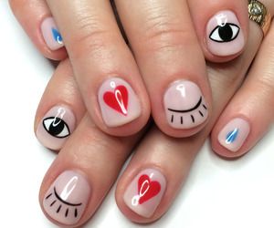 nails, eyes, and heart image