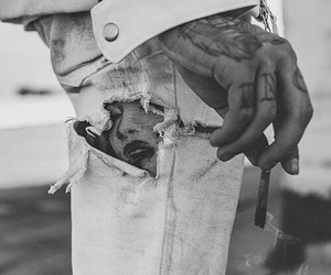 tattoo, black and white, and smoke image