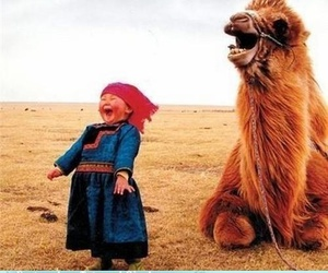 camel, child, and laughing image