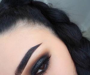 eyebrows, girls, and makeup image