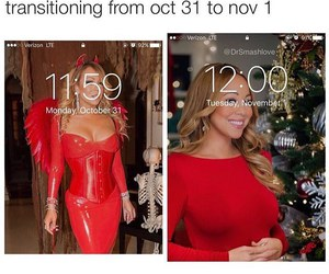 christmas, Halloween, and Mariah Carey image