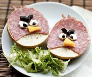 food, angry birds, and funny image