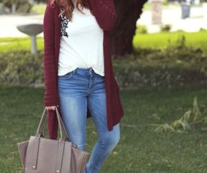 sweater, ootd, and maroon boots image