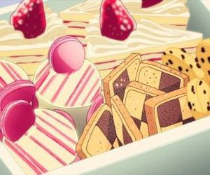 anime, food, and cake image