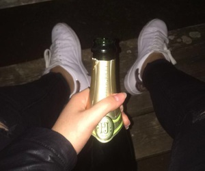 shampagne, stansmith, and alcool image