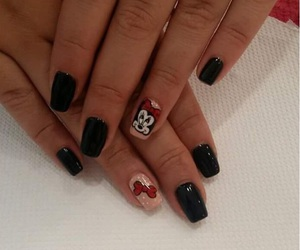 art, black, and black nails image