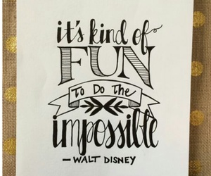 quotes, impossible, and walt disney image