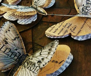 butterfly, diy, and Paper image