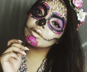 day of the dead, dia de los muertos, and makeup image