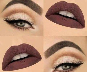 makeup, eyebrows, and lips image