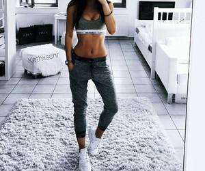 girl, fashion, and fitness image